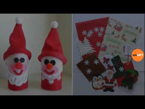 Christmas Craft Ideas For Children Christmas Kids Crafts Youtube
