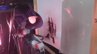 """Rrobot peintre Ballet robotique """" Utopies en compagnie des ROBOTS, réfléchissons notre futur !"""""""