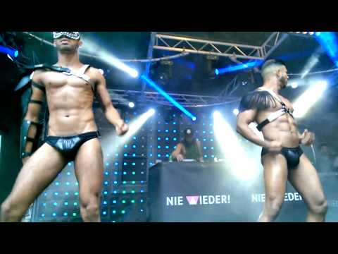 CSD Köln: Dancers & DJ Micky Friedmann at Dos Mas Stage, The World of Sexy, Cologne, July 8, 2017