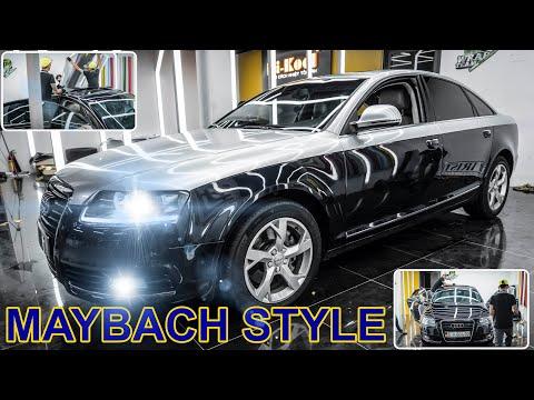 Audi A6 dán decal kiểu Maybach