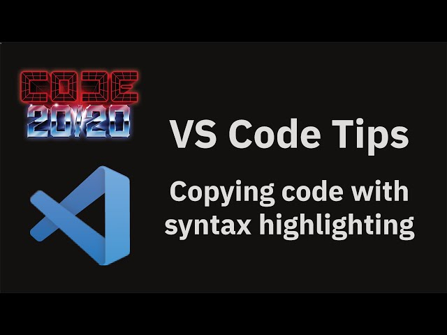 Copying code with syntax highlighting