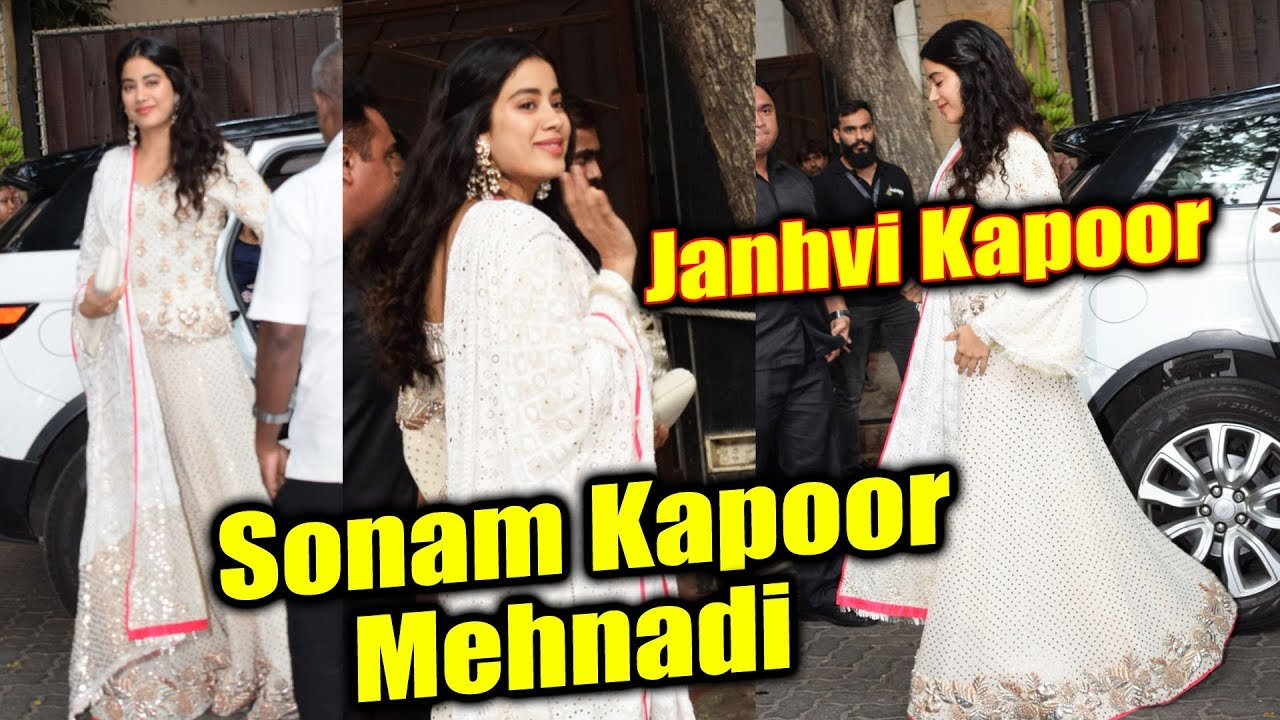 Mehndi Ceremony Mp : Janhvi kapoor arrives at sonam s mehndi ceremony youtube