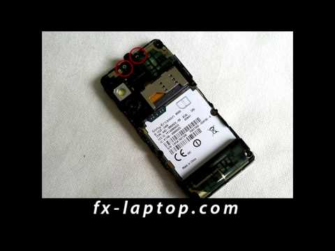 Disassembly Sony Ericsson W995 - Battery Glass Screen Replacement