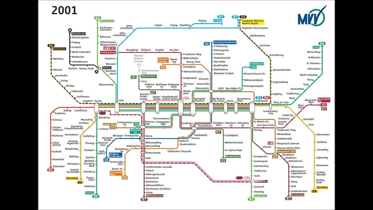 Der MVV Netzplan - Eine Zeitre...