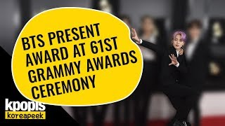 BTS present award at 61st Grammy Awards ceremony
