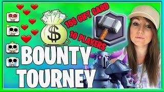 ❤️LADDER PUSH +5200 WITH PEKKA HOG DECK & 15$ BOUNTY TOURNEY/10 PLAYERS | ❤️CLASH ROYALE ❤️