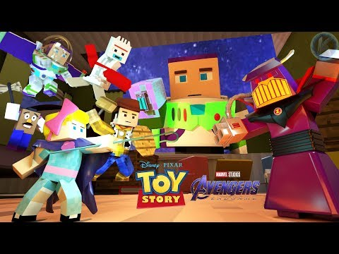 Toy Story Meets Avengers Endgame Minecraft Animation