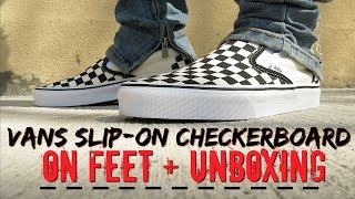 9066a03bd1b3 Vans Slip-On Checkerboard (ON FEET) + Unboxing   Review