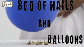 Bed Of Nails - Cool Science Experiment With Balloons | Science Experiments For School Kids