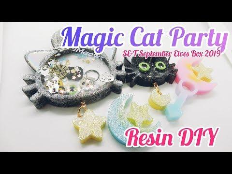 Resin DIY Magic Cat Shaker Charm S&T September Elves Box 2019