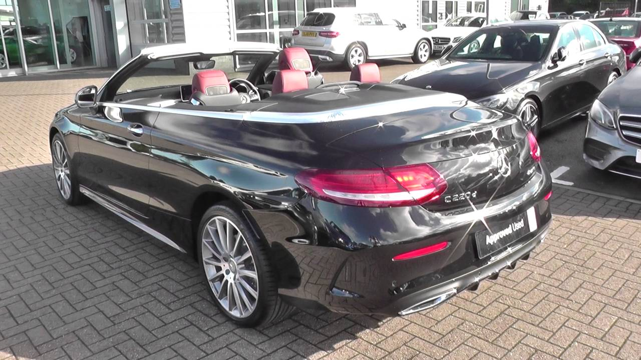 mercedes benz c class cabriolet c 220 d amg line cabriolet u27961 youtube. Black Bedroom Furniture Sets. Home Design Ideas