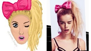Nasty Gal Inspired Side Pony Speed Drawing