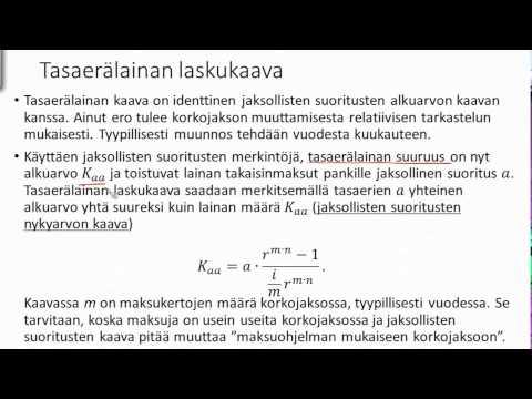 Talousmatematiikka - luentonauhoitukset