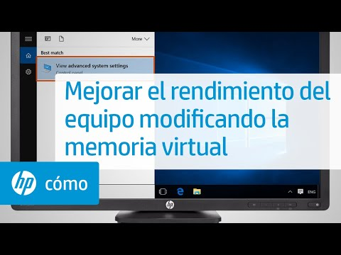 Mejorar el rendimiento del equipo modificando la memoria virtual | HP Computers | HP