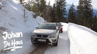 Seat Ateca 4DRIVE Uphill offroad in SNOW on a MOUNTAIN