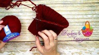 Скачать Как связать шапку спицами из 2 мотков пряжи Вязание KVK Handmade Hobby Style Knitting обзор пряжи