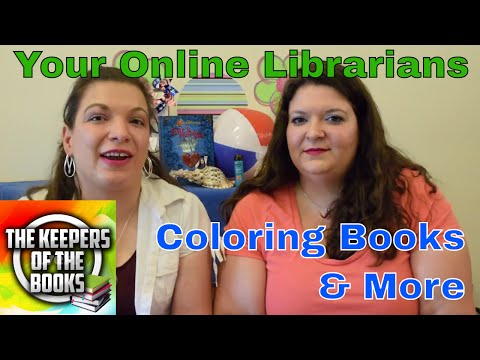 Coloring Book Haul 2   The Keepers of the Books