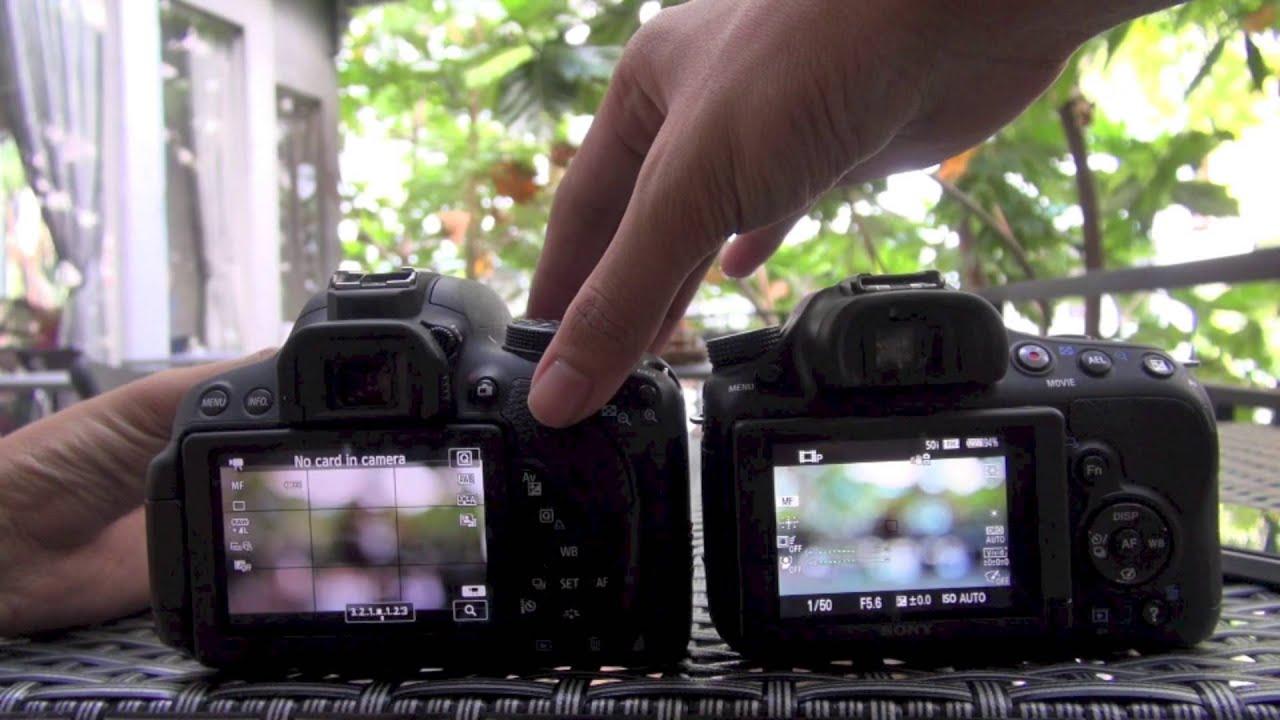 Canon EOS Rebel T6 / 1300D vs Sony α58 (SLT-A58) - YouTube