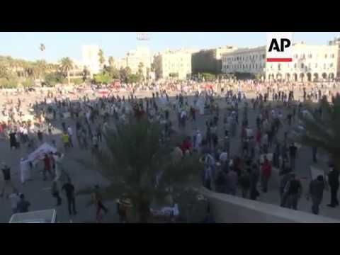 Protesters clash in the Libyan capital