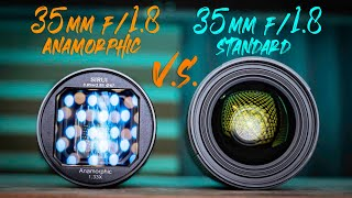 Cheap 35mm Anamorphic lens VS Video lens   Very cheap  VERY good