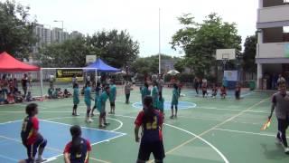 2014-15全港小學學界閃避球精英賽女小組 教院賽小VS蔡