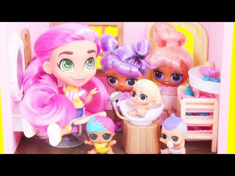 LOL Surprise Dolls Hairdorables SERIES 2 + Custom Bedroom | Toy Egg Videos