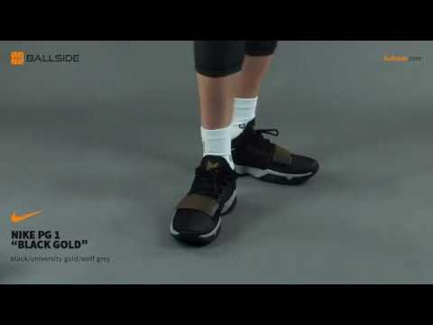 Nike PG1 BLACK GOLD on feet - YouTube