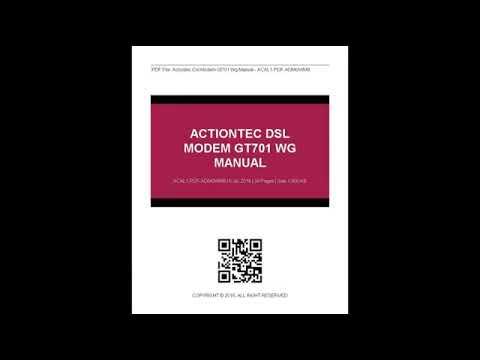 actiontec dsl modem gt701 wg manual youtube. Black Bedroom Furniture Sets. Home Design Ideas