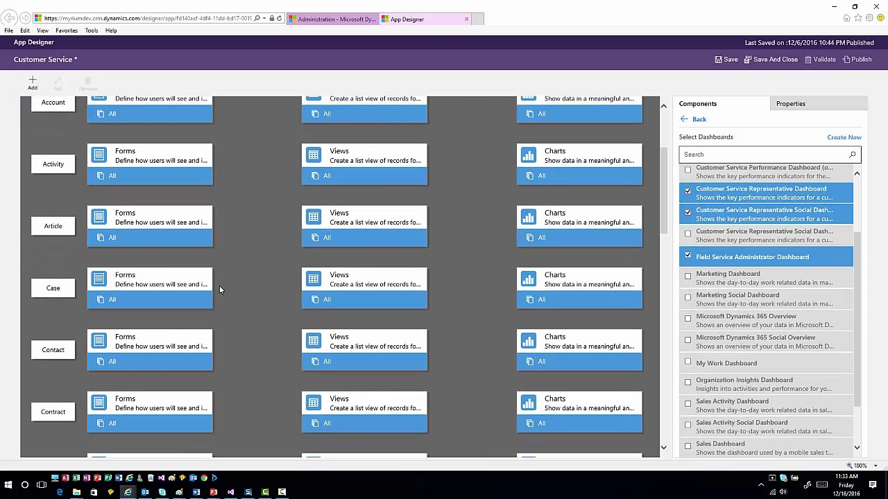 Using Dynamics 365's App Designer