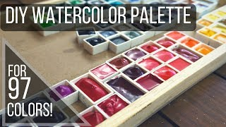 DIY Watercolor Palette - for 97 Colors! Sennelier 98 Set  Palette and Swatching