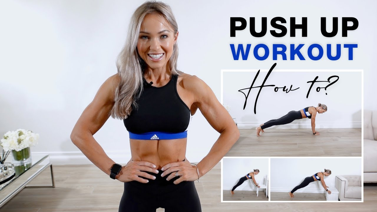 10 Min PUSH UP WORKOUT + TIPS | Beginner to Advanced