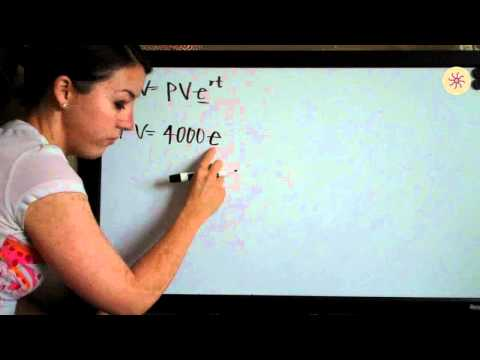 Present and Future Value Example 2 (KristaKingMath)