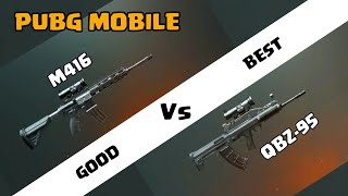 Qbz 95 vs M416 Who is best | side by side comparison | qbz 95 is op? | pubg mobile Hindi