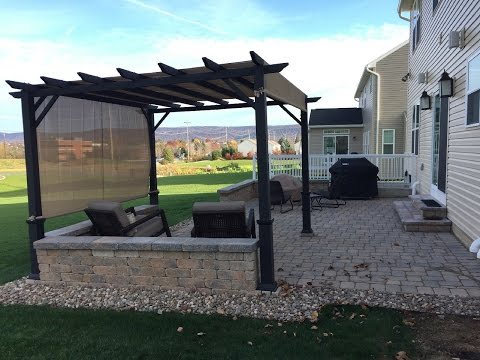 DIY Paver Patio, Fire-pit & Pergola Project (Time-lapse)