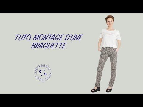 Pose de la braguette youtube - Comment reparer une braguette ...