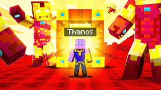 Travelling To SUPERHERO DIMENSIONS as Thanos In Minecraft!