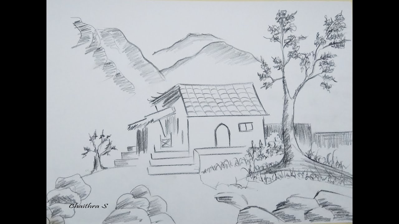 Pencil Shading For Beginners How To Draw Scenery Nature Drawing For Beginners