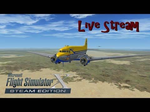 Live Stream | FSX | Joyride in Africa | Manfred Jahn's DC-3 | Flying with the Monkeys!