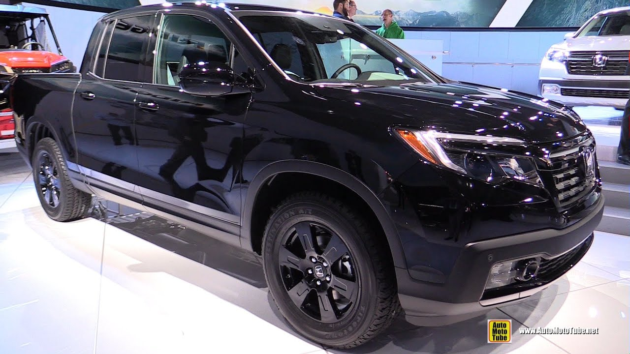 2017 Honda Ridgeline Black Edition Exterior Interior Walkaround Debut At 2016 Detroit Auto Show