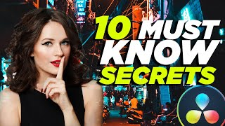10 Davinci Resolve tİps you MUST KNOW! From Beginner to Pro!