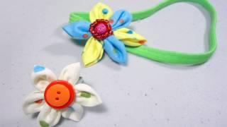 Como hacer una flor de tela para anillo o banda de pelo