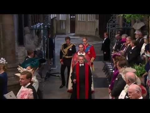 Catherine Middleton walks down the aisle - I Was Glad - Parry