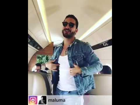Maluma - GPS / cantando desde su avión