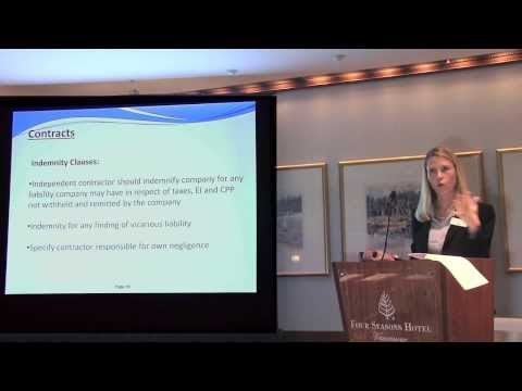 Employee or Independent Contractor? - Brad Allen & Annelie Vistica - Davidson & Company