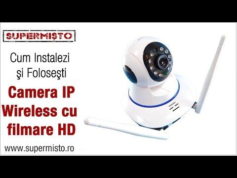 Instalează și configurează singur o Cameră IP Wireless filmare HD SM6211
