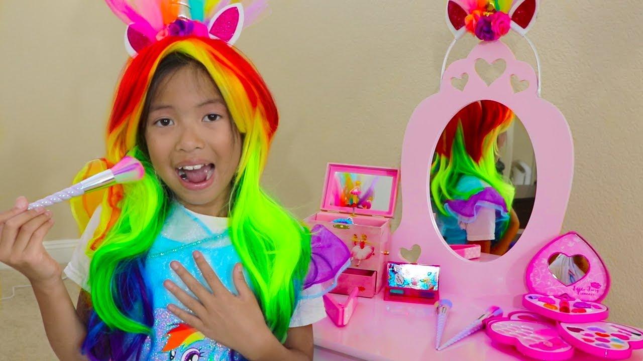 Wendy Pretend Play Rainbow Dash Unicorn Dress Up New