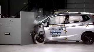 IIHS - 2015 Honda Fit - small overlap crash test / ACCEPTABLE EVALUATION