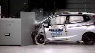 IIHS - 2015 Honda Fit - small overlap crash test / ACCEPTABLE EVALUATION