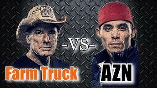 Street Outlaws Farm Truck and Azn Drag Race Each Other
