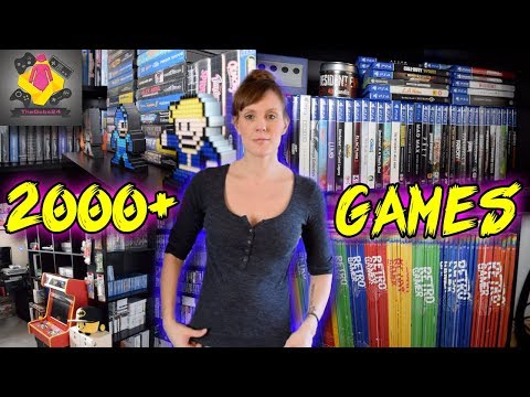 2018 RETRO GAMES ROOM UPDATE TOUR | 2000+ Video Games | More shelving YES | TheGebs24